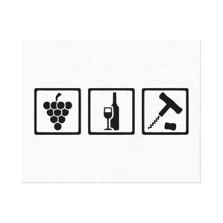 Sacacorchos de las uvas de vino del Vintner Impresion De Lienzo