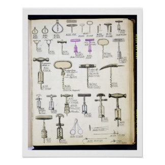 Sacacorchos, de un catálogo comercial de la sustan póster
