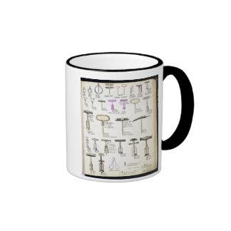 Sacacorchos, de un catálogo comercial de la sustan tazas de café