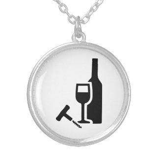 Sacacorchos del cristal de botellas de vino colgante redondo