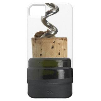 Sacacorchos y corcho, fotografiados en blanco iPhone 5 Case-Mate protectores