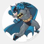 Sacador de Batman Etiquetas Redondas