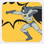 Sacador de Batman Pegatina Cuadradas Personalizada