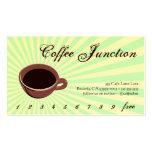 Sacador de la bebida del café/tarjeta de la lealta tarjeta de visita