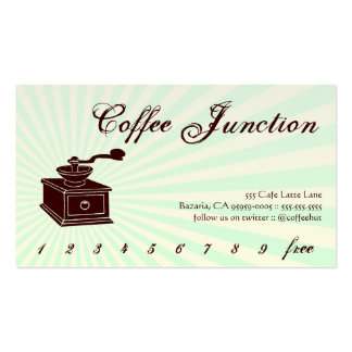 Sacador de la bebida del café tarjeta de la lealta plantilla de tarjeta personal