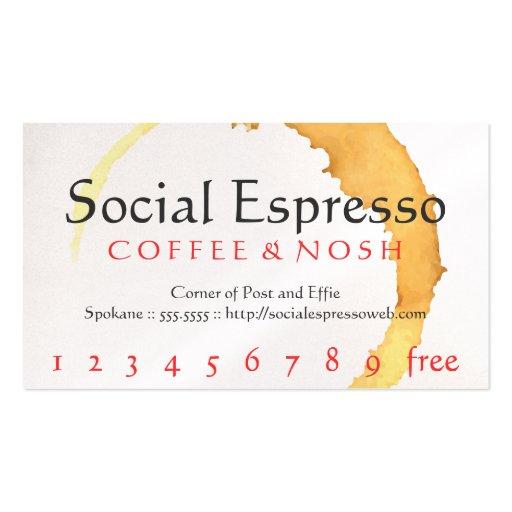Sacador de la mancha del café/tarjeta sociales de  tarjetas de visita