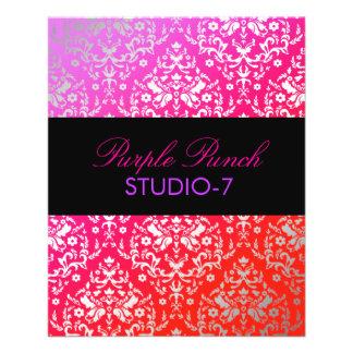 "sacador de la púrpura del damasco 311-Dazzling Folleto 4.5"" X 5.6"""