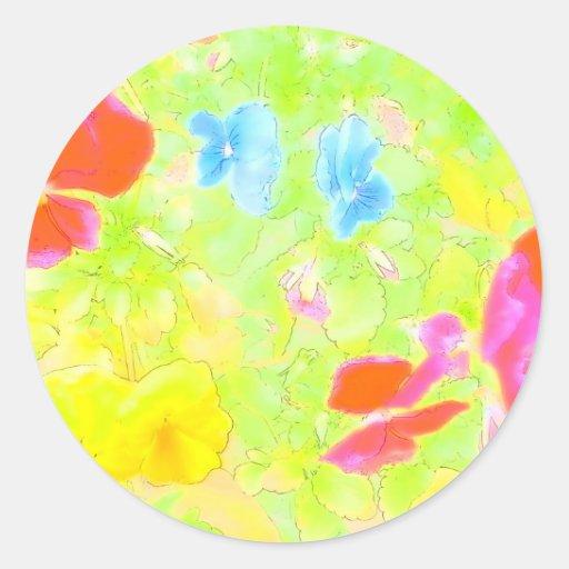 Sacador del color pegatina redonda