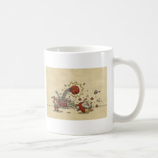 Sacador del día de fiesta taza de café