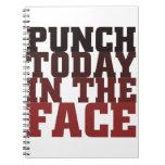 Sacador hoy en el refrán de motivación de la cara libreta espiral