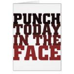 Sacador hoy en el refrán de motivación de la cara tarjetas