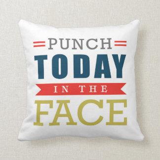 Sacador hoy en el tipo de motivación divertido de cojín