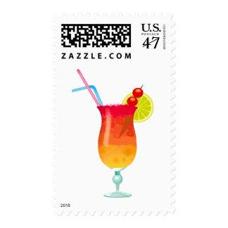 Sacador tropical helado del ron timbre postal