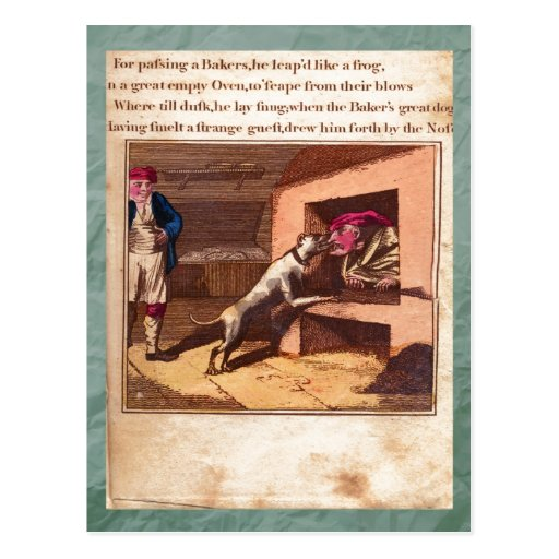 Sacador y postal de la placa XI de la historia de
