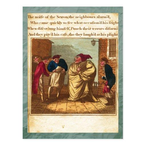 Sacador y postal de la placa XIII de la historia d