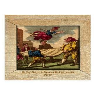 Sacador y postal de la placa XIV de la imagen de J