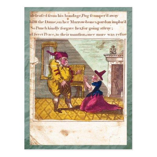 Sacador y postal de la placa XVI de la historia de