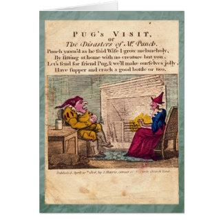 Sacador y tarjeta de felicitación de la placa I de