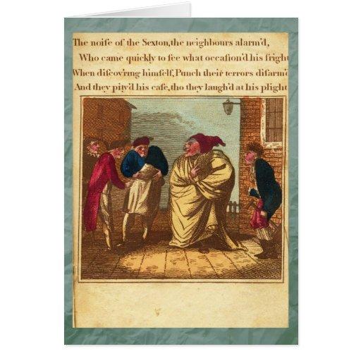 Sacador y tarjeta de felicitación de la placa XIII