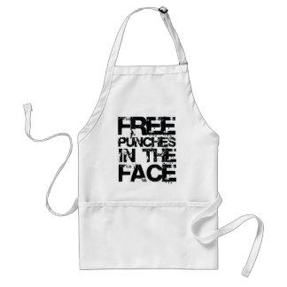 Sacadores libres en la cara delantal