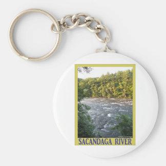 Sacandaga River Basic Round Button Keychain
