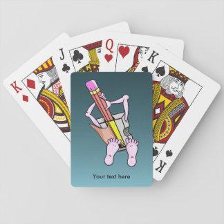 Sacapuntas de lápiz surrealistas de la diversión baraja de cartas