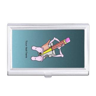 Sacapuntas de lápiz surrealistas de la diversión cajas de tarjetas de presentación