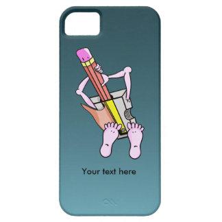 Sacapuntas de lápiz surrealistas de la diversión iPhone 5 funda