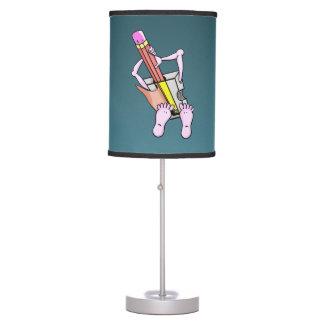 Sacapuntas de lápiz surrealistas divertidos lámpara de mesa