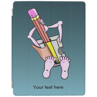Sacapuntas de lápiz surrealistas extraños cubierta de iPad