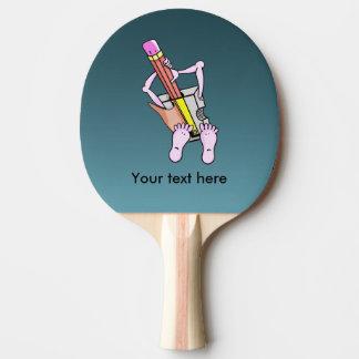 Sacapuntas de lápiz surrealistas extraños pala de ping pong