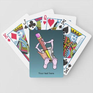 Sacapuntas de lápiz surrealistas lindos cartas de juego