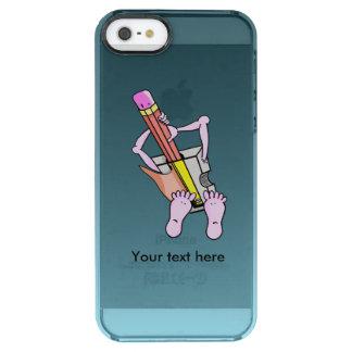 Sacapuntas de lápiz surrealistas lindos funda clearly™ deflector para iPhone 5 de uncommon