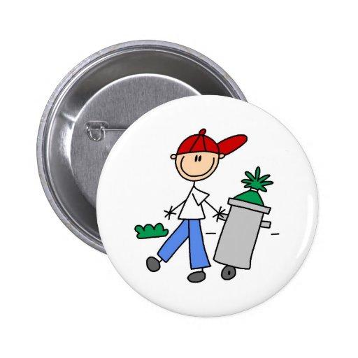 Sacar el botón de la basura pins