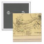 Saccarappa, molinos del Cumberland, mapa del puebl Pin Cuadrado
