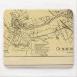 Saccarappa, molinos del Cumberland, mapa del puebl Tapetes De Ratones