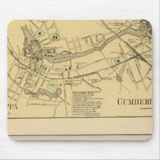 Saccarappa, molinos del Cumberland, mapa del puebl Tapete De Ratón