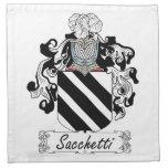 Sacchetti Family Crest Cloth Napkins