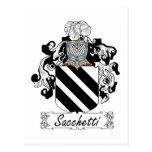 Sacchetti Family Crest Postcard