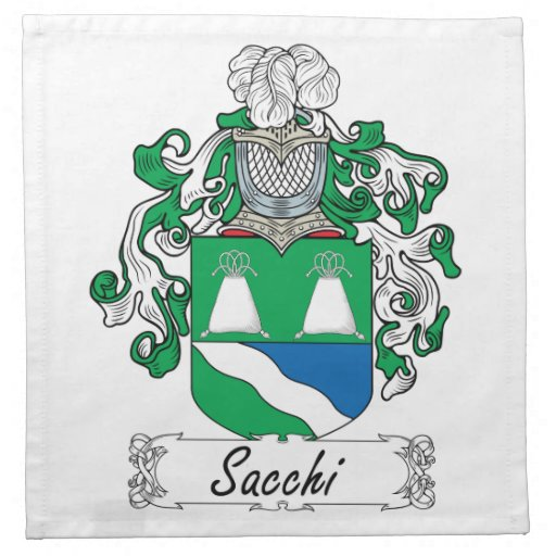 Sacchi Family Crest Cloth Napkin