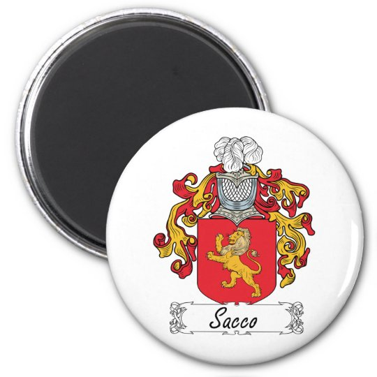 Sacco Family Crest Magnet