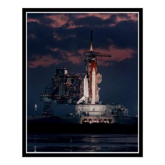 Sace Shuttle at night Poster