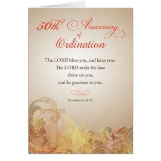 Sacerdote, 50.o aniversario de la bendición de la tarjeta de felicitación