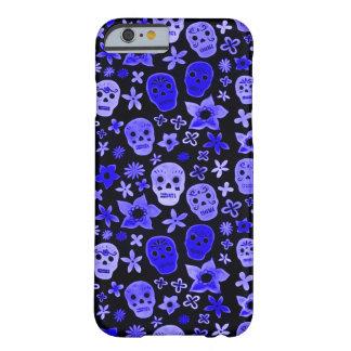 Sacerdote azul del vudú del cráneo de Skully Funda Para iPhone 6 Barely There