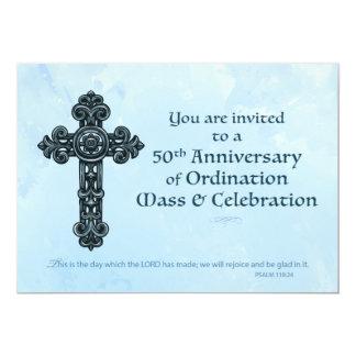 """Sacerdote del aniversario de la ordenación de la invitación 5"""" x 7"""""""