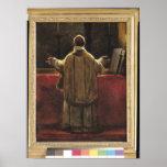Sacerdote en el altar poster