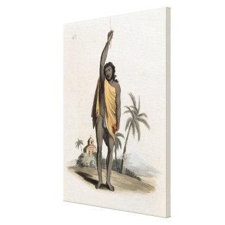 Sacerdote hindú, pub. por Edward Orme, 1804 (litho Impresiones En Lienzo Estiradas