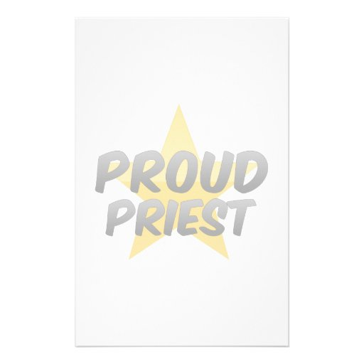 Sacerdote orgulloso papeleria personalizada