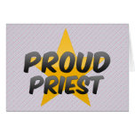 Sacerdote orgulloso tarjeta
