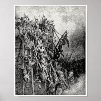 Sacerdote Volkmar y ataque Merseburg de Emicio de Póster